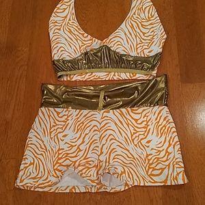 Other - Shorts & Crop Halter Top
